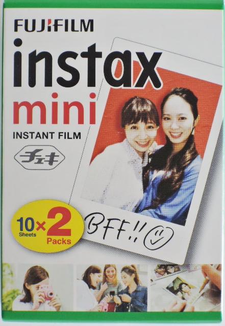 インスタックスミニフィルム20枚  フジフィルム インスタックスミニ チェキ用フィルム20枚