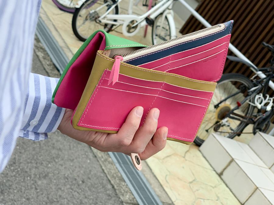 ▲F-PLUMP ピンクが主役のカラフルさん「フルプランプ 長財布」ふっくら感にキュン