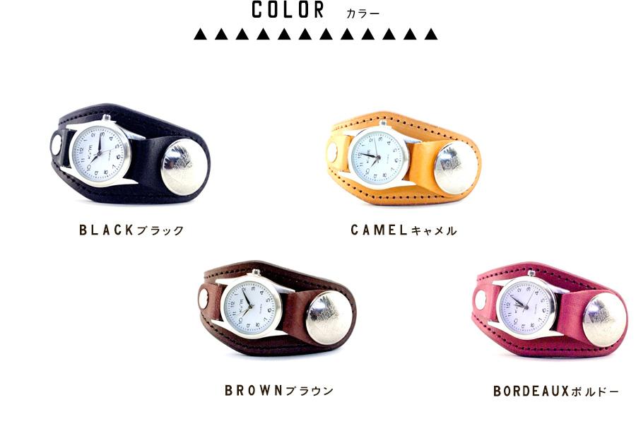《送料無料》○【テールコンチョ/レザーウォッチ】しっぽのようなアシンメトリーデザイン腕時計