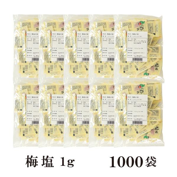 梅塩 1g×1000袋 宅配便 送料無料 小袋 使いきり 調味料 塩 ソルト 梅 梅干し 天ぷら 寿司 焼き鳥 お弁当 イベント 和食 肉料理 野菜料理 魚料理 小分け こわけや
