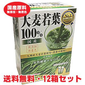 国内産 九州産大麦若葉100% 3g×44包入×12個 【コンビニ受取対応商品】