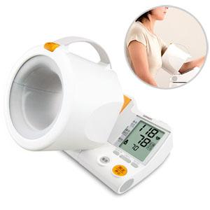 ★送料無料★オムロンデジタル自動血圧計 HEM-1000 スポットアーム腕を通すだけで正しい測定姿勢をつくる「可動式腕帯」