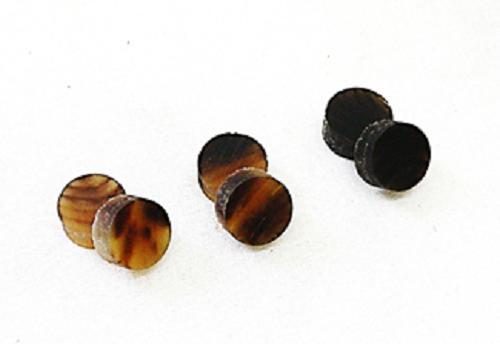 アクセサリー ネクタイピン 漆加工等々の嵌め込み材 水牛アクセサリー ブランク サイズ12m セール特価 m LB MB ブランクアソート6個セット 各2個づつ 日本製 B ゆうメール便OK 格安