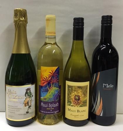 ハワイ ワイン 4本セット 大注目 2020新作 マウイブラン マウイスプラッシュ パイナップルスパークリングワイン ウルパラクアレッド フラオ マウイ テデシーワイナリー