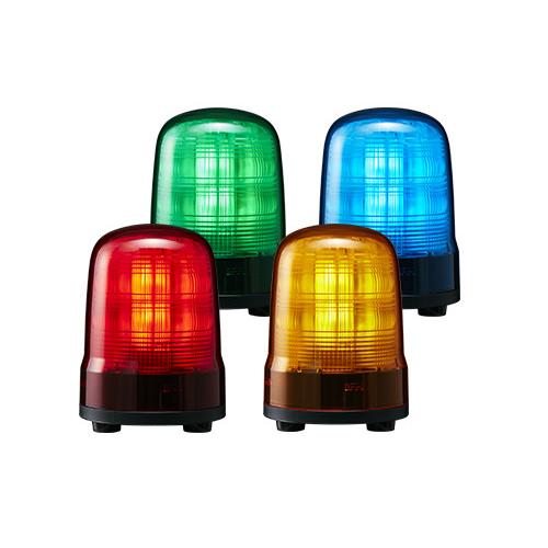パトライト LED回転灯(モータレス) SF10-M2KTB AC100V-240V 回転灯色:赤・黄 ブザー付