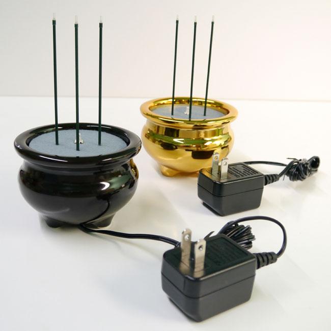 【火を使わない】 電子線香器 【光ファイバー】 * [安心] 【線香】 【電子仏具】 【電池式】 【LED】 けやきタイプ