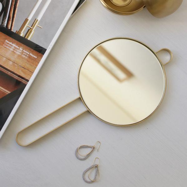 ferm LIVING (ファームリビング) Poise Hand Mirror (ハンドミラー) ブラス 北欧/インテリア/日本正規代理店品