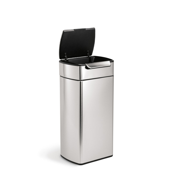 simplehuman (シンプルヒューマン) レクタンギュラータッチバーダストボックス 30L シルバー ゴミ箱/正規販売店