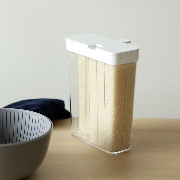 YAMAZAKI 付与 tower タワー 冷蔵庫用米びつ 1合分別 1.8kg ライスストッカー 収納 ホワイト お米12合分 定価の67%OFF