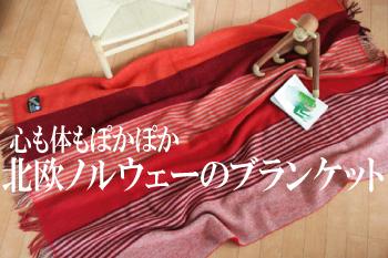 Roros (ロロス) ブランケット ヴォア レッド ニューウール100% 【国内正規取扱店】
