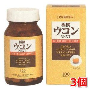 極撰ウコン NEXT 100粒入 3本セット 中央薬品 ウコン アミノ酸 フラボノイドを豊富に含有