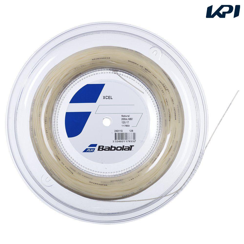 新色追加して再販 送料無料 全品10%OFFクーポン ~9 12 バボラ 直送商品 テニスガット XCEL ストリング Babolat 243110