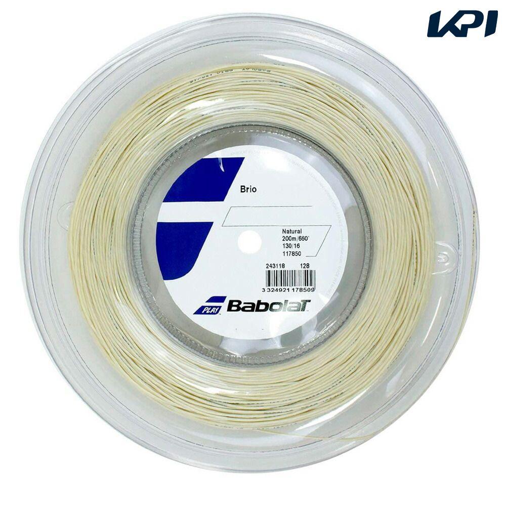 送料無料 全品10%OFFクーポン ~9 12 バボラ Babolat 200mロール 243118 ストリング 至高 BRIO OUTLET SALE テニスガット ブリオ