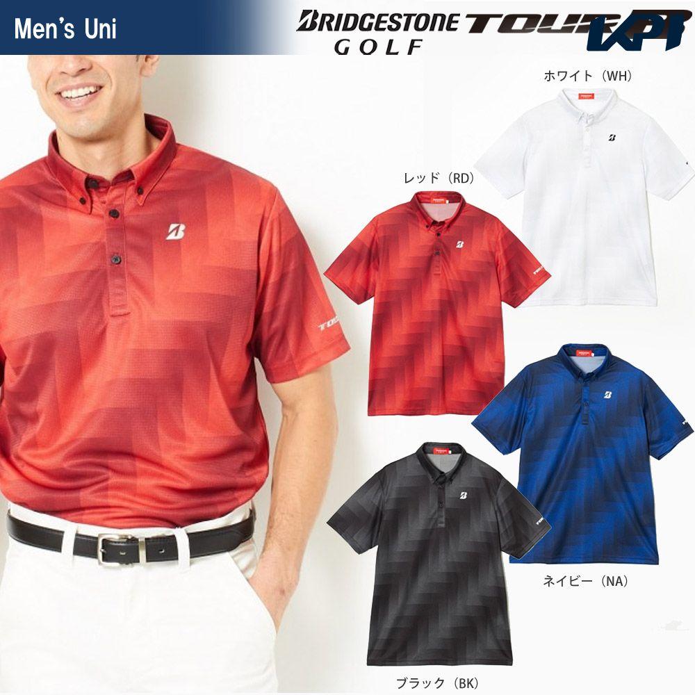 ブリヂストンゴルフ BRIDGESTONE ゴルフウェア メンズ TOUR B ツアーB 半袖ボタンダウンシャツ JGM10A 2018SS