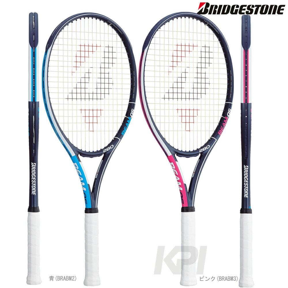 『10%OFFクーポン対象』「ボール3缶プレゼント」「2017新製品」BRIDGESTONE(ブリヂストン) 「BEAM-OS 280(ビームオーエス 280) BRABM2-BRABM3」硬式テニスラケット