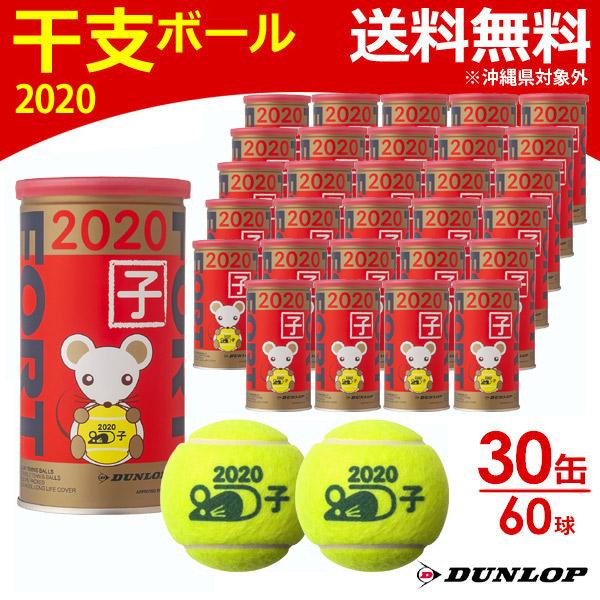 【全品10%OFFクーポン対象】「あす楽対応」ダンロップ DUNLOP テニステニスボール FORT(フォート)干支ボール 2020年「子」 [2個入] 1箱(30缶/60球) DFD20ETOYL2DOZ 『即日出荷』