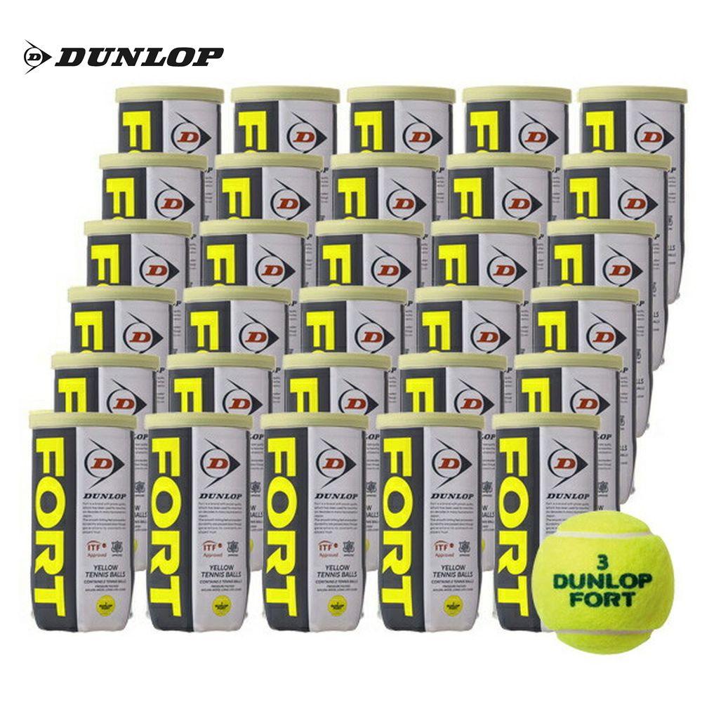 【10000円以上で1000円引クーポン対象】DUNLOP(ダンロップ)「FORT(フォート)[2個入]1箱(30缶/60球)」テニスボール