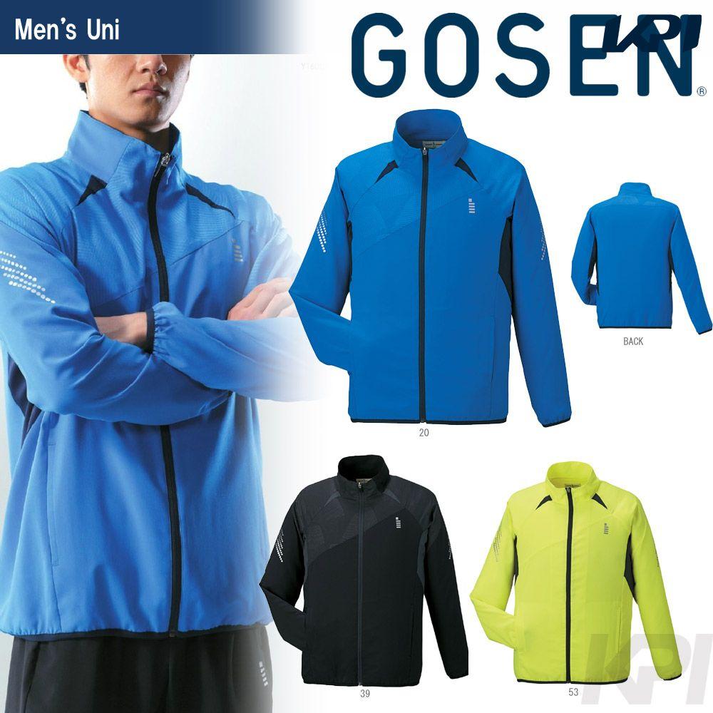 【全品10%OFFクーポン対象】GOSEN(ゴーセン)「UNI ライトウィンドジャケット Y1600」テニスウェア「2016SS」【テニコレ掲載】【KPI】