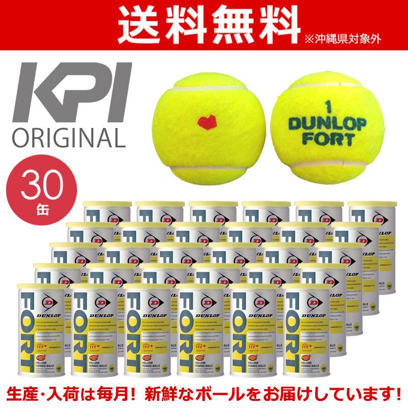 【10000円以上で1000円引クーポン対象】「あす楽対応」「KPIオリジナルモデル」DUNLOP(ダンロップ)「FORT(フォート)[2個入]1箱(30缶/60球)」テニスボール 『即日出荷』