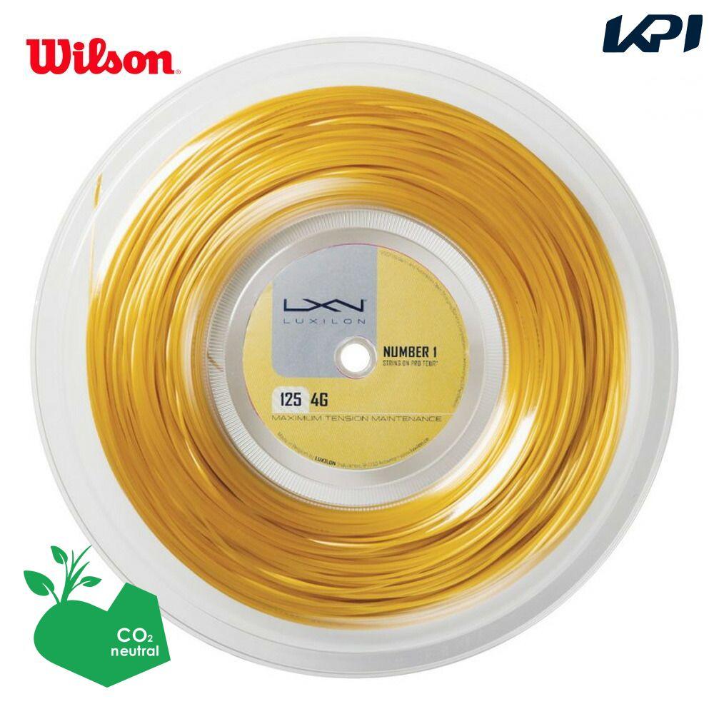 『10%OFFクーポン対象』LUXILON(ルキシロン)「LUXILON 4G 125 200mロール WRZ990141」硬式テニスストリング(ガット)