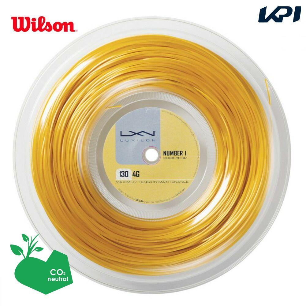 【1000円クーポン対象】LUXILON(ルキシロン)「LUXILON 4G 130 200mロール WRZ990142」硬式テニスストリング(ガット)「あす楽対応」『即日出荷』