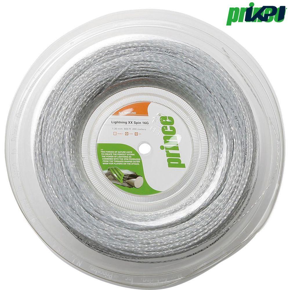 プリンス Prince テニスガット・ストリング LIGHTNING XX SPIN 16 (ライトニングXXスピン16) 200mロール 7J850 硬式テニス ストリング