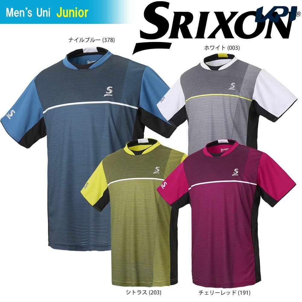 【全品10%OFFクーポン対象】「あす楽対応」スリクソン SRIXON テニスウェア ジュニア ゲームシャツ SDP-1802J 2018SS[ポスト投函便対応] 『即日出荷』