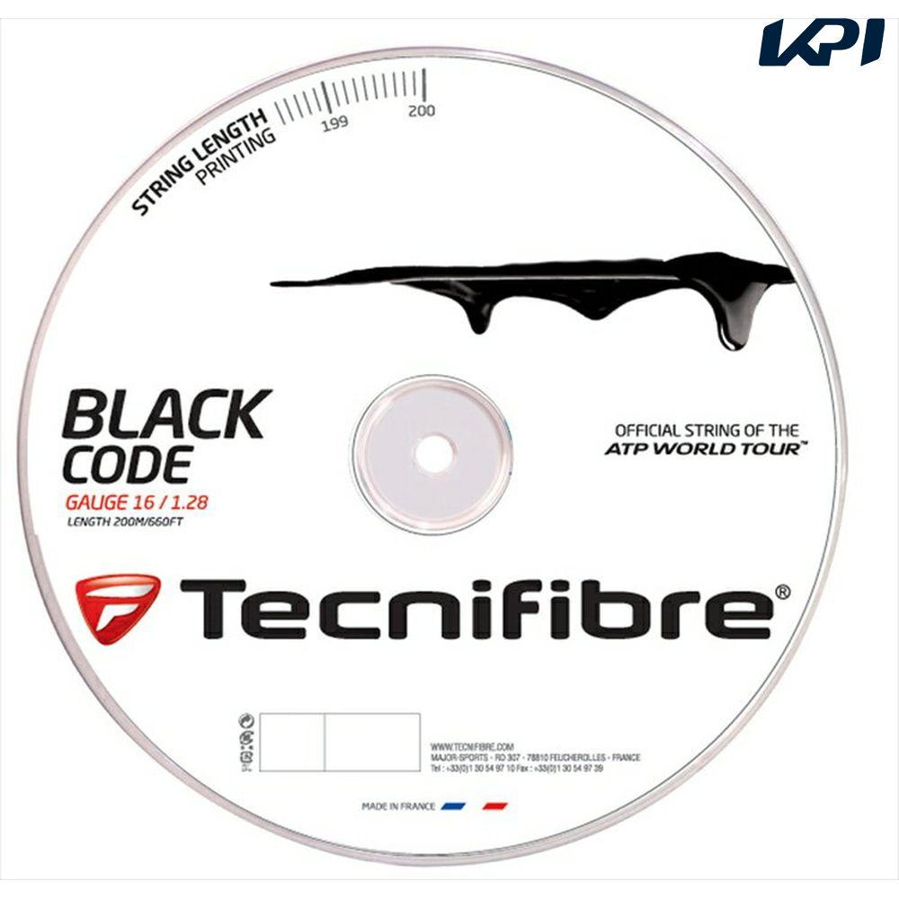 『即日出荷』 「新パッケージ」Tecnifibre(テクニファイバー)「BLACK CODE(ブラックコード) 200mロール TFR505」硬式テニスストリング(ガット)【KPI】「あす楽対応」【テクニファイバーキャンペーン】