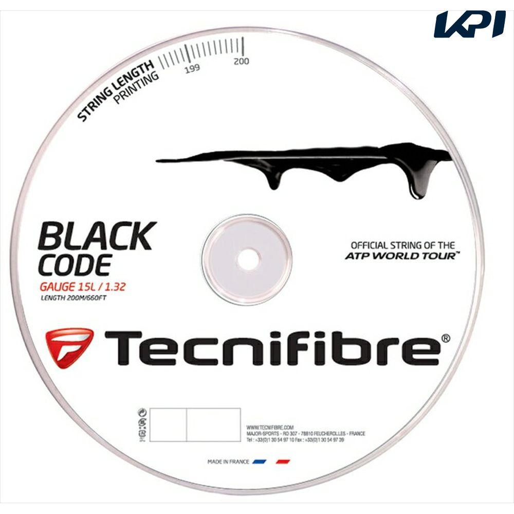【最大4000円クーポン】『即日出荷』「新パッケージ」Tecnifibre(テクニファイバー)「BLACK CODE(ブラックコード) 200mロール TFR506」硬式テニスストリング(ガット)【KPI】「あす楽対応」