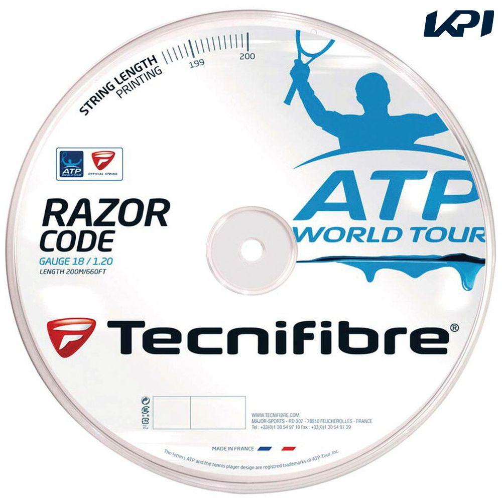 【最大4000円クーポン】「あす楽対応」Tecnifibre(テクニファイバー)「RAZOR CODE 1.25(レーザーコード1.25)200mロール TFR514」テニスストリング(ガット)『即日出荷』