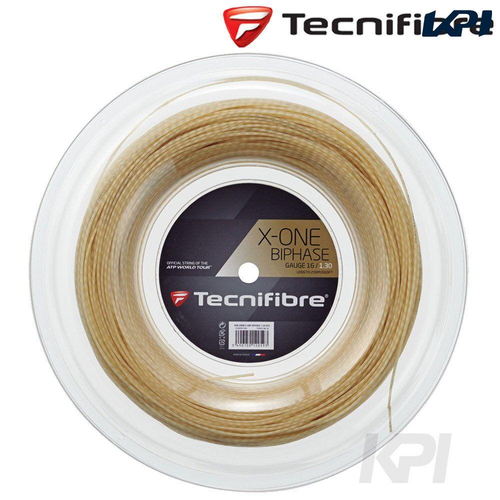 【最大2000円クーポン▼マラソン限定】「あす楽対応」Tecnifibre(テクニファイバー)「X-ONE BIPHASE 1.30mm(エックスワン バイフェイズ) 200mロール TFR902」硬式テニスストリング(ガット)『即日出荷』