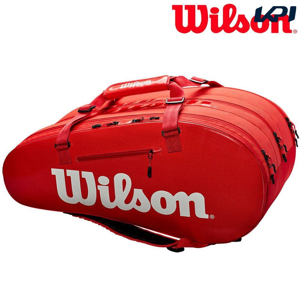 【全品10%OFFクーポン】ウイルソン Wilson テニスバッグ SUPER TOUR 3 COMP RED ラケットバッグ 15本入 WRZ840815 『即日出荷』「あす楽対応」