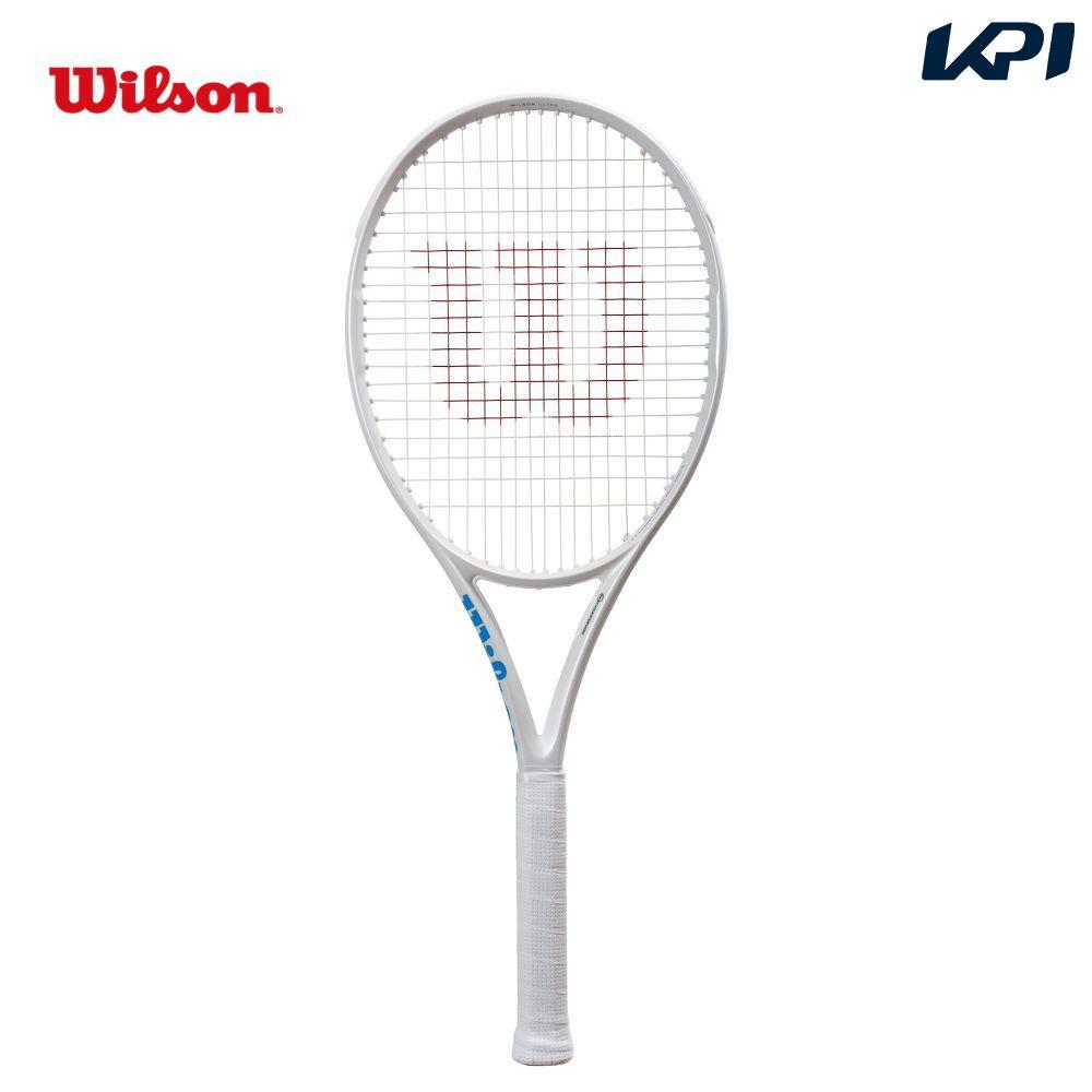 【全品10%OFFクーポン&エントリーでP3倍】ウイルソン Wilson テニス硬式テニスラケット ULTRA 100CV White in White WR011011S【ウイルソンラケットセール】