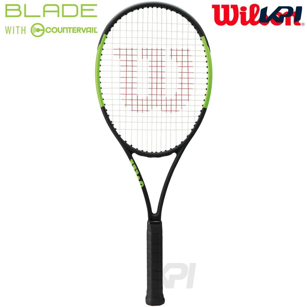 『10%OFFクーポン対象』「2017新製品」Wilson(ウイルソン)「BLADE 98(16×19) COUNTERVAIL(ブレイド98 カウンターヴェイル) WRT733510」硬式テニスラケット(スマートテニスセンサー対応)【KPI】