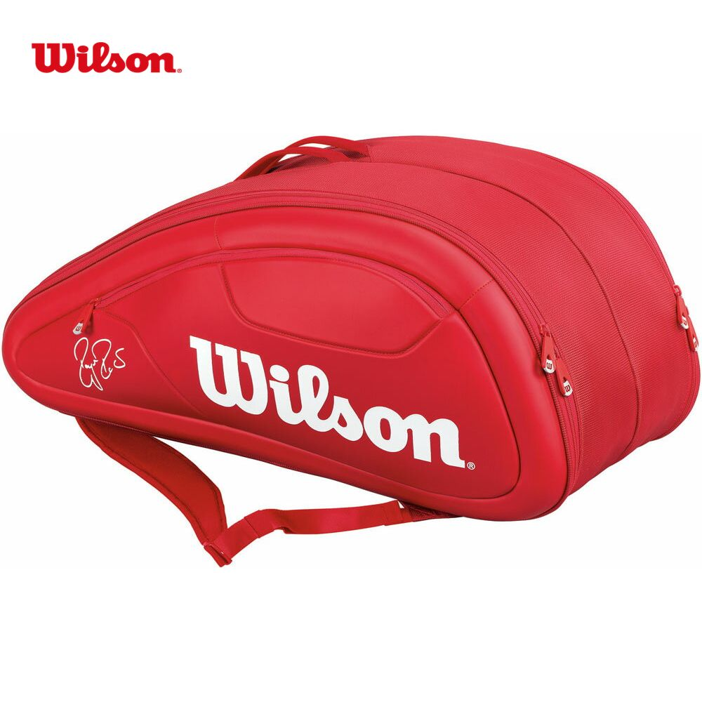『10%OFFクーポン対象』『即日出荷』 Wilson(ウィルソン)[FEDERER DNA 12 PACK RD フェデラーモデル WRZ830712]テニスバッグ「あす楽対応」