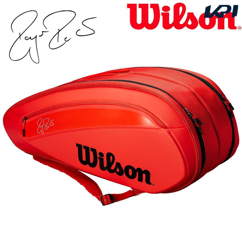 『10%OFFクーポン対象』ウイルソン Wilson テニスバッグ・ケース FEDERER DNA 12 PACK ラケットバッグ(12本入) WRZ830812