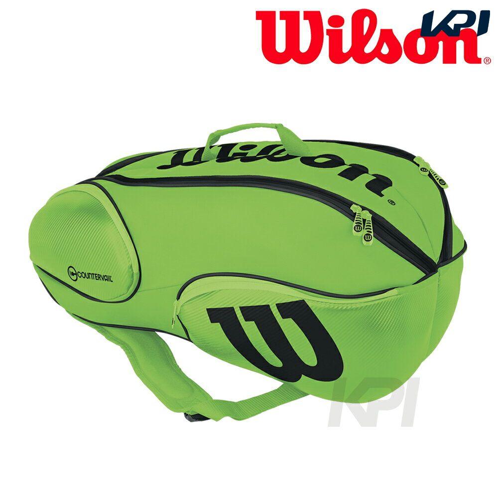 『10%OFFクーポン対象』「2017新製品」Wilson(ウィルソン)「Vancouver 9Pack GRBK WRZ845709」テニスバッグ