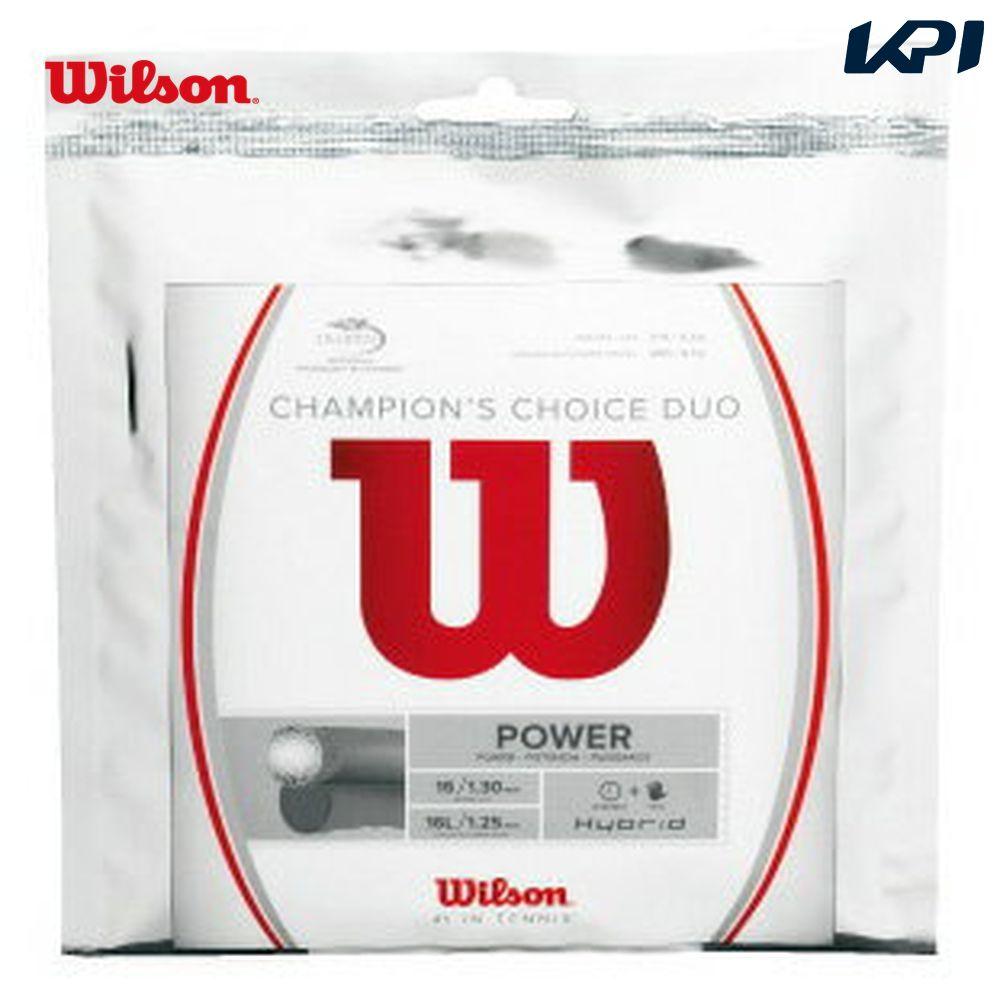 全品10%OFFクーポン 再入荷/予約販売! ~9 12 Wilson ウイルソン CHAMPION'S CHOICE 硬式テニスストリング ガット WRZ997900 チャンピオンズ デュオ チョイス DUO 送料0円
