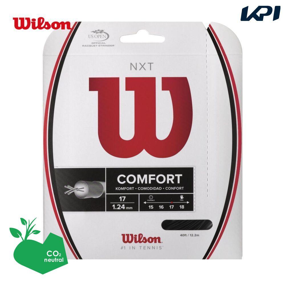 全品10%OFFクーポン~9 26 買い物 ウイルソン Wilson テニスガット 定番キャンバス WRZ943000 NXT BLACK ストリング 17