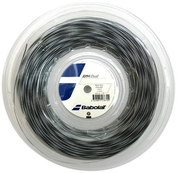 『即日出荷』BabolaT(バボラ)「RPM DUAL (RPMデュアル)125/130 200mロール BA243122」硬式テニスストリング(ガット) 「あす楽対応」