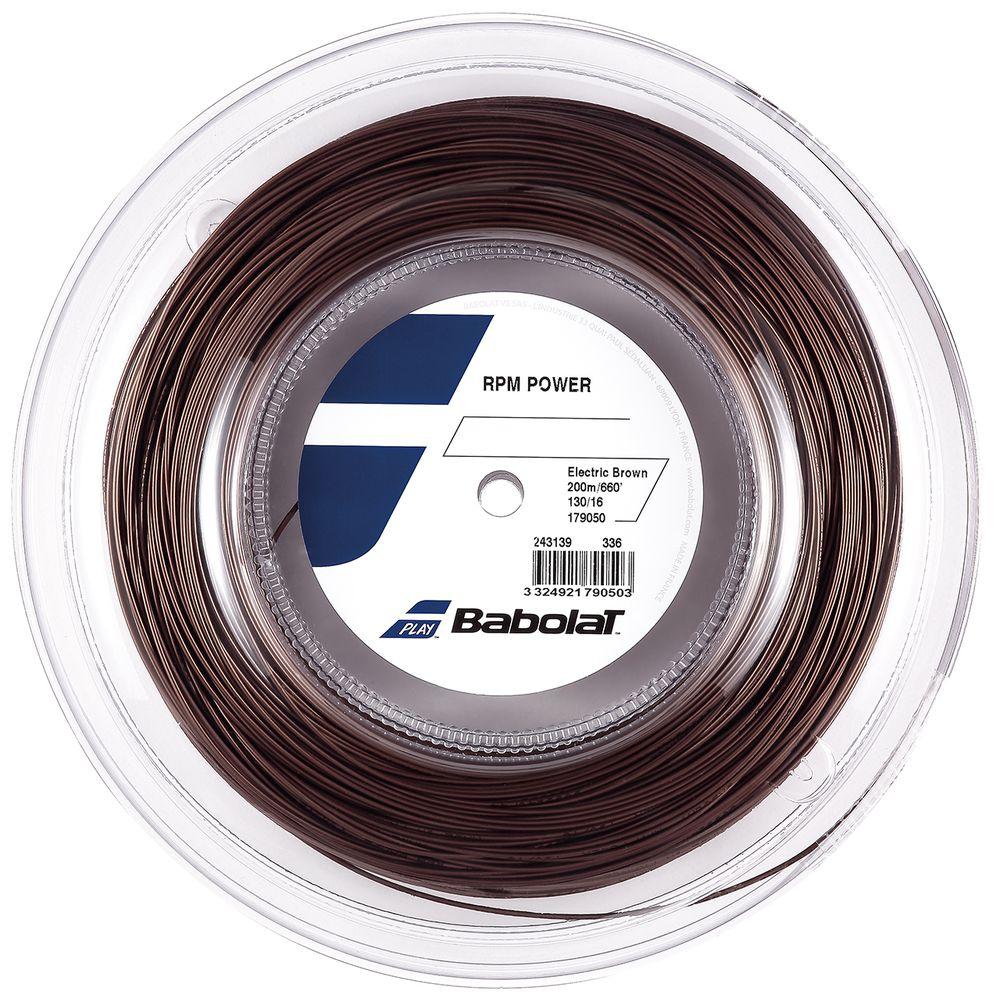 バボラ Babolat テニスガット・ストリング RPM POWER RPMパワー 125/130 200mロール BA243139