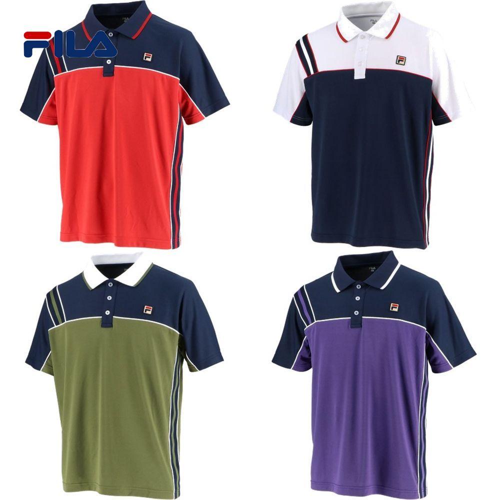 フィラ FILA テニスウェア メンズ ゲームポロシャツ VM5432 2019FW [ポスト投函便対応]