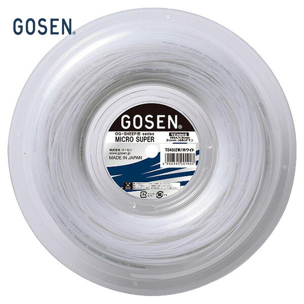 「新パッケージ」GOSEN(ゴーセン)「オージーシープミクロスーパー16 240mロール」ts4002硬式テニスストリング(ガット)【smtb-k】【kb】
