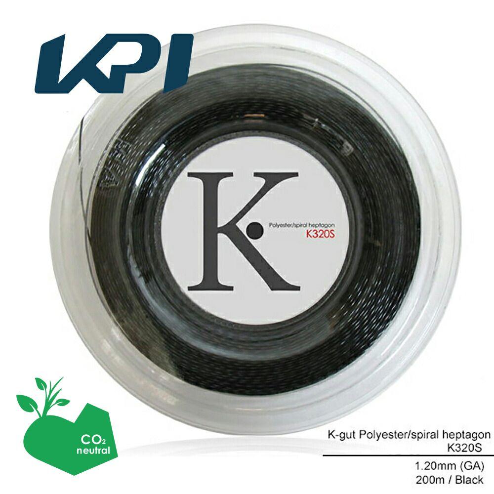 『即日出荷』 KPI(ケイピーアイ)「K-gut Polyester/spiral heptagon K320S 200mロール」硬式テニスストリング(ガット)「あす楽対応」【kpi24】 KPIオリジナル商品