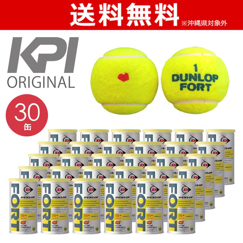 「あす楽対応」「KPIオリジナルモデル」DUNLOP(ダンロップ)「FORT(フォート)[2個入]1箱(30缶/60球)」テニスボール 『即日出荷』