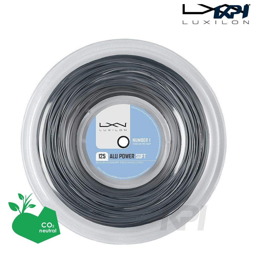 「あす楽対応」LUXILON(ルキシロン)「ALU POWER SOFT(アルパワーソフト) 1.25 200Mロール WRZ990102」硬式テニスストリング(ガット)【kpi24】 『即日出荷』