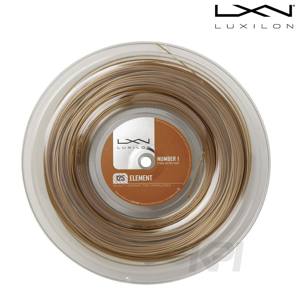 「あす楽対応」LUXILON(ルキシロン)「Element(エレメント) 1.25 200mロール WRZ990106」硬式テニスストリング(ガット) 『即日出荷』
