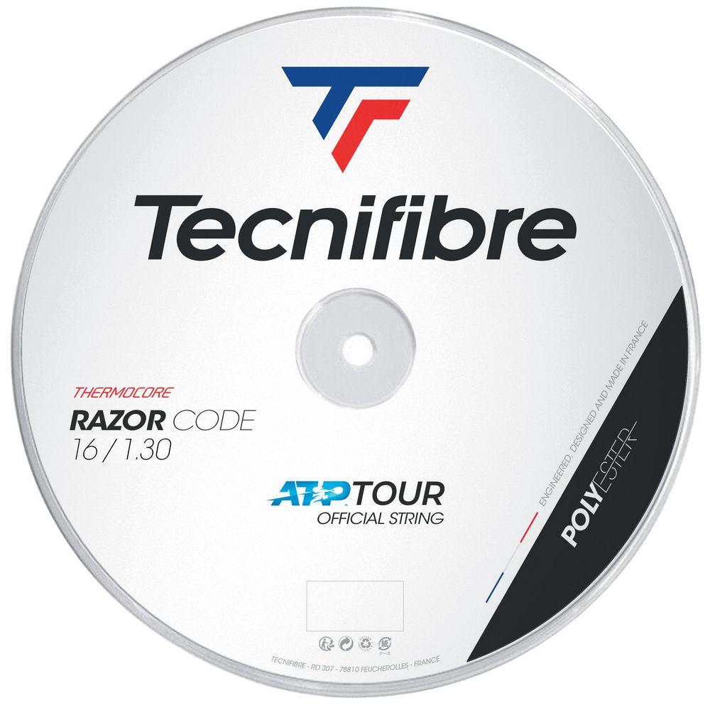 【エントリーでポイント10倍▲さらに買い回りで10倍 8/14~21】テクニファイバー Tecnifibre テニスガット・ストリング RAZOR CODE (レーザーコード) 1.30mm 200mロール TFR402