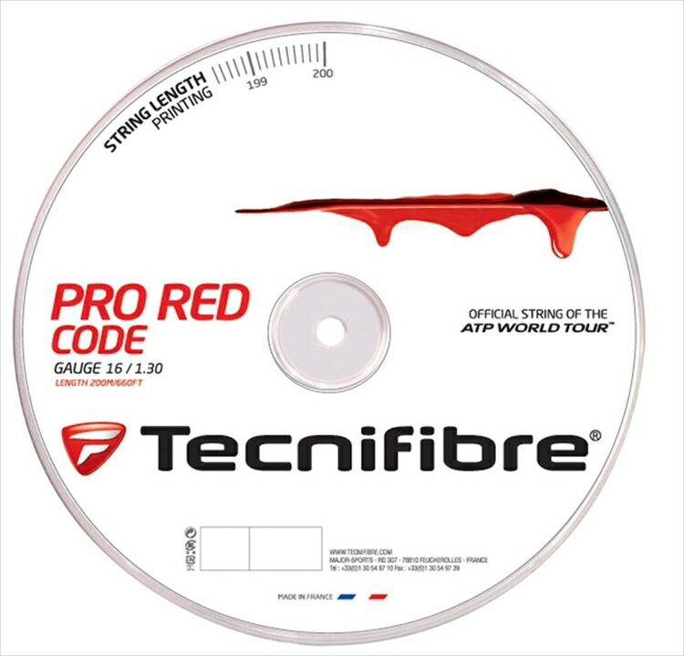 『即日出荷』 「新パッケージ」Tecnifibre(テクニファイバー)「PRO REDCODE(プロ レッドコード) 200mロール TFR502」硬式テニスストリング(ガット)【kpi24】「あす楽対応」【テクニファイバーキャンペーン】