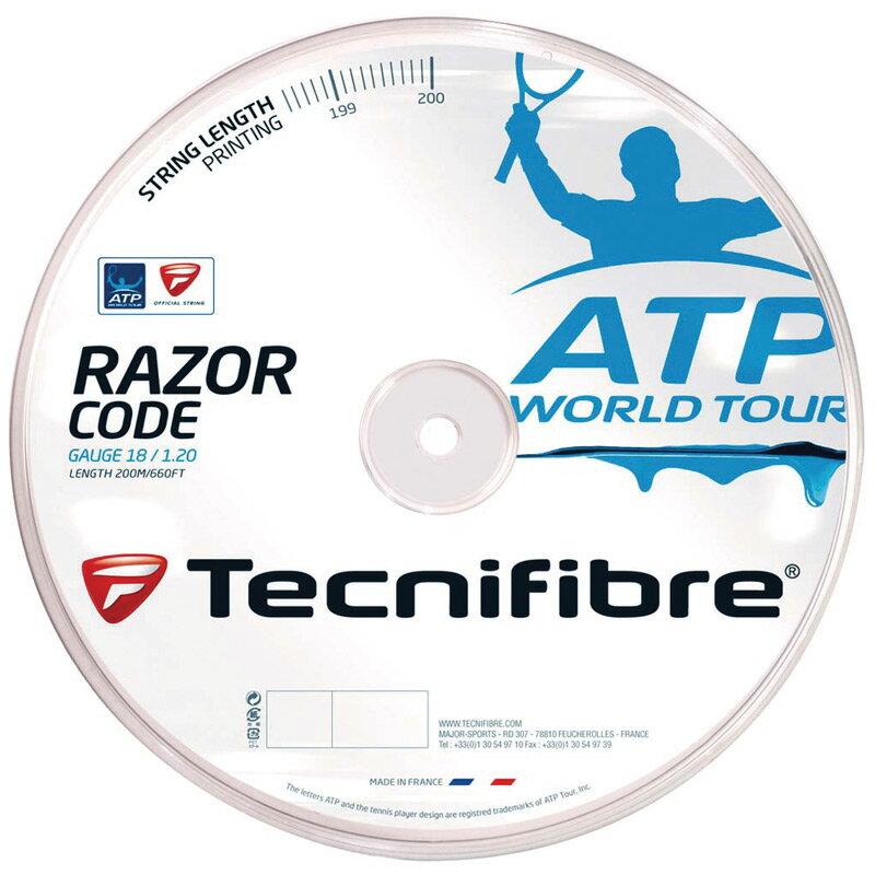 「あす楽対応」Tecnifibre(テクニファイバー)「RAZOR CODE 1.25(レーザーコード1.25)200mロール TFR514」テニスストリング(ガット) 『即日出荷』